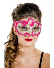 "Maska wenecka ""Sweet & Scary"" – różowa"