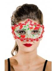 """Maska wenecka """"Sweet & Scary"""" – czerwona"""