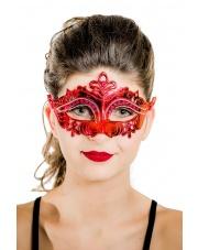 "Maska wenecka ""Mystique"" - czerwona"