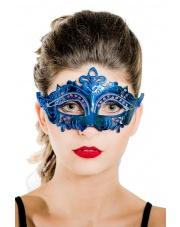 "Maska wenecka ""Mystique"" - niebieska"