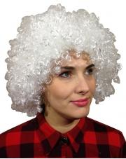 Peruka Afro - Białe