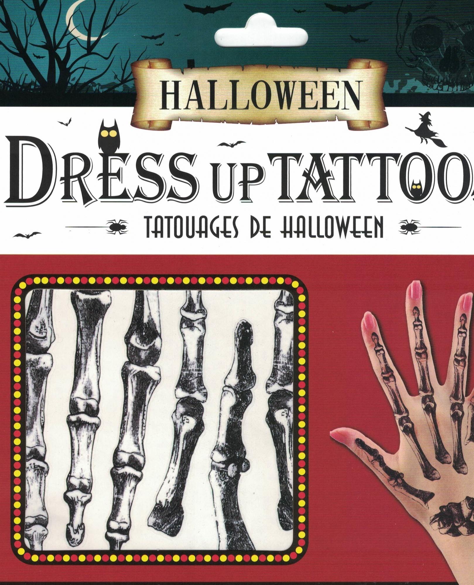 Tatuaże Halloween Kości Na Dłonie śmieszne Rzeczy