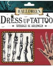 Tatuaże Halloween Kości na dłonie