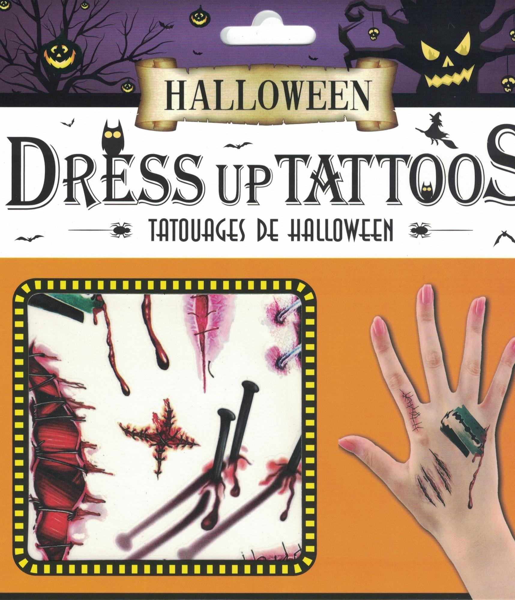 Tatuaże Halloween Gwoździe Rany Szycia Pazury I żyletki