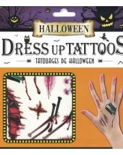 Tatuaże Halloween Gwoździe, rany, szycia, pazury i żyletki