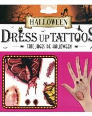 Tatuaże Halloween Ukąszenia, ugryzienie, rany, zadrapania