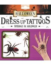 Tatuaże Halloween Pająki