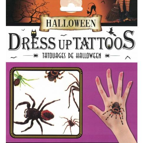Tatuaże Halloween Pająki Straszne Rzeczy Gadżety