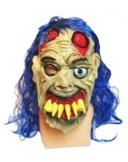 """Maska """"Zombie z krzywym zgryzem"""" - niebieski"""