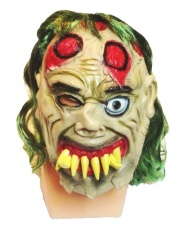 """Maska """"Zombie z krzywym zgryzem"""" - zielony"""