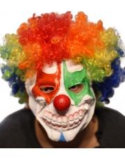 Maska Klaun Afro z zaciśniętymi zębami