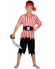 Strój Pirat z przepaską na oko dziecięcy