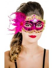 """Maska wenecka """"Mademoiselle"""" – różowa"""