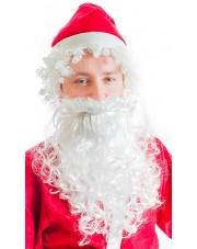 Zestaw Święty Mikołaj (peruka i broda)