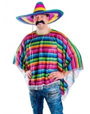 Strój Meksykanina - poncho rozmiar uniwersalny