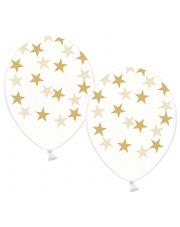 Balon przezroczysty - Złote Gwiazdy