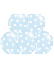Balon w kropki - Błękitny