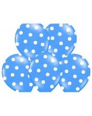 Balon w kropki - Niebieski