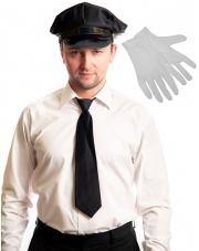 Zestaw Szofera - Czapka, krawat, rękawiczki