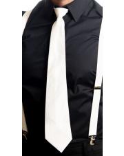 Biały krawat