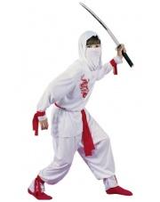 Strój Ninja Biały Wojownik 110-135 cm.