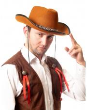 Kapelusz kowboja pomarańczowy