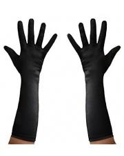 Czarne rękawiczki lata 20'