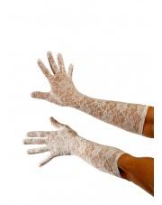 Rękawiczki Koronkowe Lata 20 40 - Białe