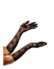 Rękawiczki Koronkowe Lata 20 40 - Czarne
