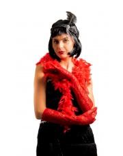 SZAL BOA 180 cm. z piór Czerwony Czerwone lata 20