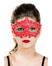 "Maska wenecka ""Queen"" – czerwona"