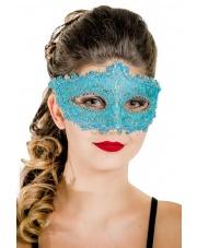 """Maska wenecka """"Queen"""" – błękitna"""